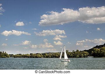 帆走しているボート, ライン