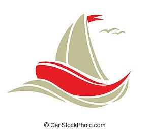 帆走しているボート