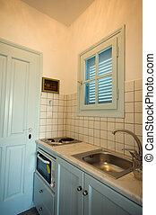 希腊人, 公寓, 厨房岛