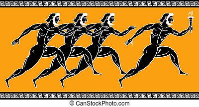 希臘語, 奔跑者