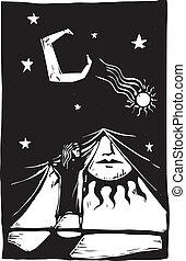 帘子, #1, 夜晚