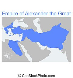 帝国, アレキサンダー, 地図, 偉人