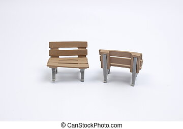 席, おもちゃ, 上に, a, 白, 背中, 地面