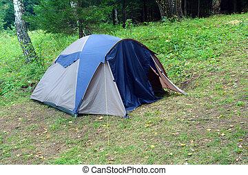 帳篷, 在, 森林