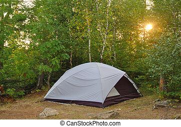 帳篷, 在, 營地, 在, the, 荒野