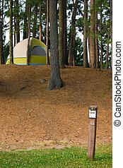 帳篷, 露營, 營地