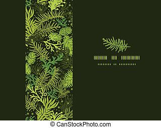 常緑樹, パターン, フレーム, 木, seamless, 背景, 横, クリスマス