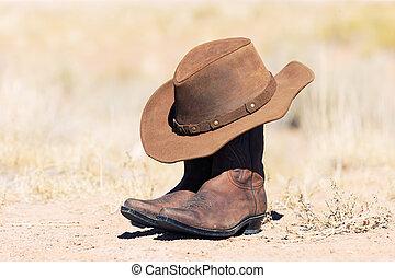 帽子, そして, ブーツ
