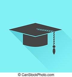 帽子, アイコン, 卒業
