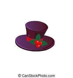 帽子, クリスマス, 隔離された