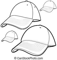 帽子, セット, 野球