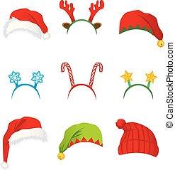 帽子, ヘッドバンド, クリスマス