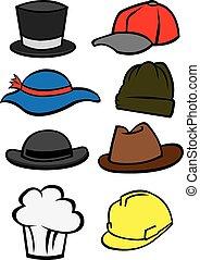 帽子, ベクトル, 例証しなさい