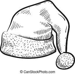帽子, ベクトル, 冬