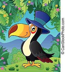 帽子, 主題, toucan