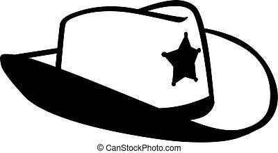 帽子, 保安官, カウボーイ