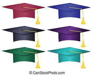 帽子, 多数, 有色人種, 卒業