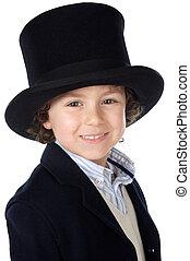 帽子, 愛らしい, 子供