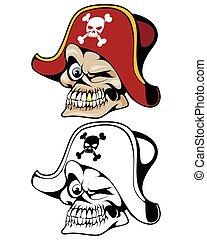帽子, 海賊, 頭骨