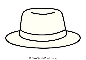 帽子, 白, 黒, 漫画, アイコン
