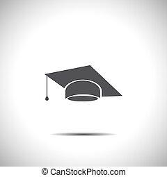 帽子, 矢量, 畢業, 圖象