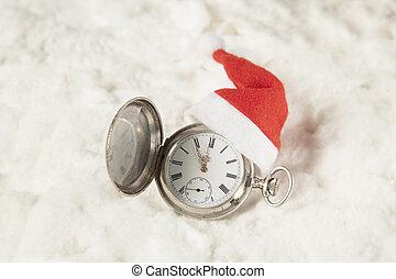 帽子, 腕時計, santa