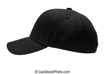 帽子, 野球, ブランク, クローズアップ, サイド光景