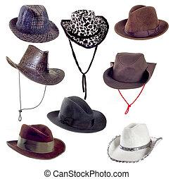 帽子, 集合, 白色