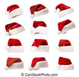 帽子, 集合, 被隔离, 聖誕老人, 白色