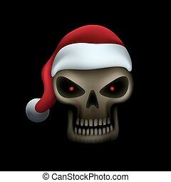 帽子, 頭骨, santa