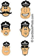 帽子, 顔, 警官