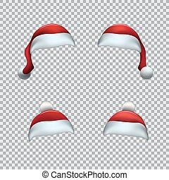 帽子, santa, 赤, テンプレート