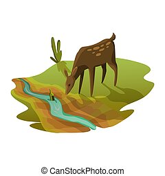 干ばつ, エコロジー, warming., 概念, 食用魚卵, dry., 水, 飲むこと, poster., ...