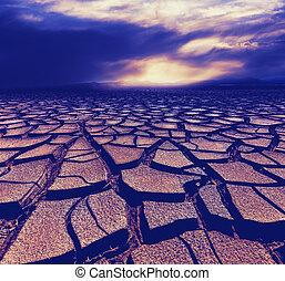 干旱, 陸地