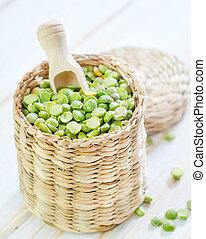 干燥, 豌豆