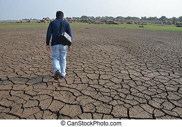 干燥, 陆地