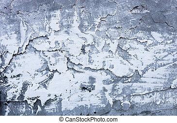 平らでない, 部分的に, 水漆喰を塗られる, モルタル, セメント, 表面, 堅くされる