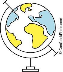 平らなライン, 地球の 地球, アイコン