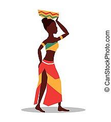 平ら, について, アフリカ, イラスト, デザイン