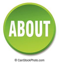 平ら, について, ボタン, 隔離された, 緑, 押し, ラウンド