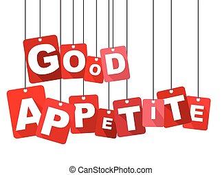 平ら, よい, 網, 井戸, それ, appetite., ベクトル, デザイン, 背景, adapted, 赤, design.