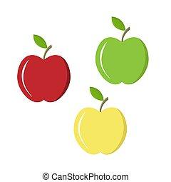 平ら, りんご, デザインを設定しなさい, 有色人種