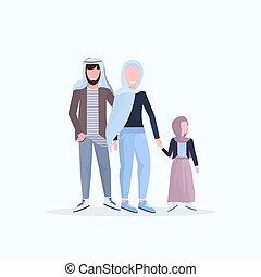 平ら, わずかしか, フルである, 娘, 家族, 父, 一緒に歩くこと, 持つこと, 伝統的である, 楽しみ, 長さ, 背景, 母, アラビア人, 白, 幸せ, アラビア, 衣服