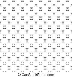 平ら, アイコン, 単純である, パターン, イラスト, シンボル, 砂, ベクトル, 様々, 背景, clocks, 白, 砂時計