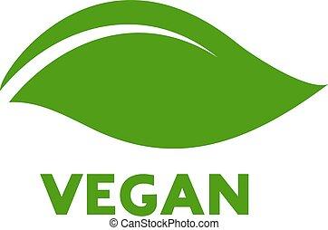平ら, アイコン, vegan