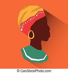 平ら, イラスト, について, アフリカ, デザイン
