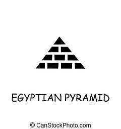 平ら, エジプト人, ベクトル, ピラミッド, アイコン