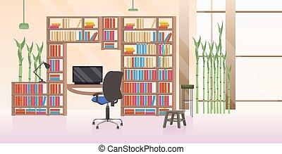平ら, オフィスの人々, 現代, 創造的, いいえ, 内部, 横, 空, 仕事場