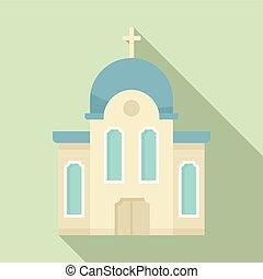 平ら, キリスト教徒, スタイル, アイコン, 教会