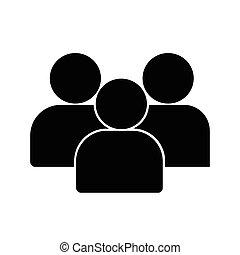 平ら, グループ, 人々, シンボル, イラスト, ベクトル, 背景, アイコン